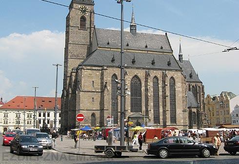 Пльзень в Чехии. Собор Святого Варфоломея.
