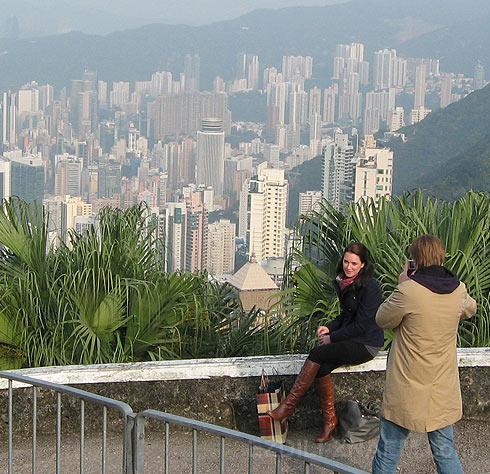 Фото Гонконга с пика Виктории