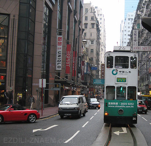 Фото улицы Гонконга