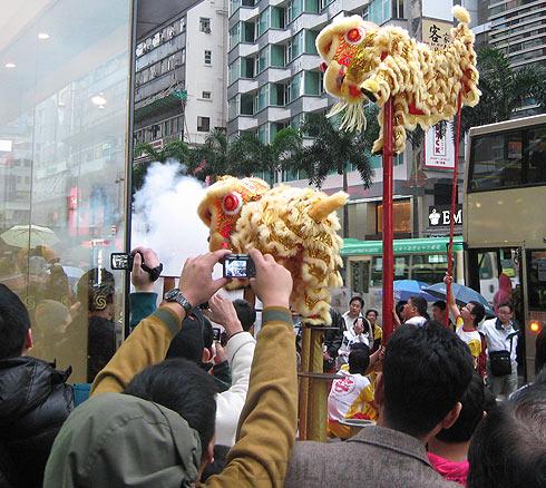Празднование китайского нового года в Гонконге