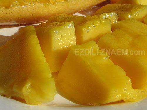 Как есть манго. Фото