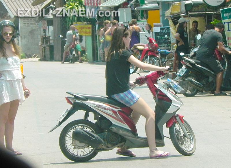 Как начинать ездить на мотобайке в Таиланде