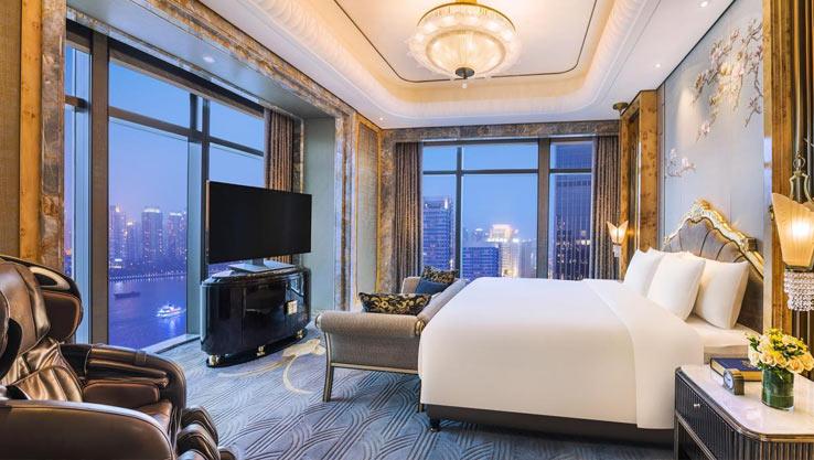 Отель с видом на небоскребы. Шанхай