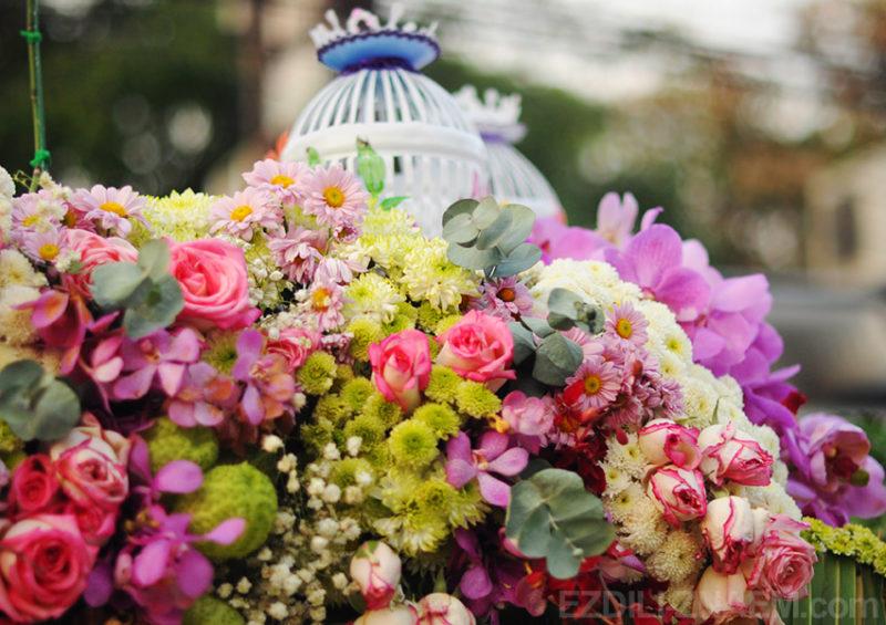 На фестивале цветов