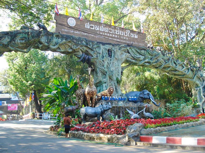 Вход в зоопарк Чианг Май в Таиланде