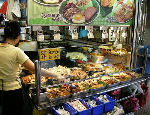 Цены на еду в Сингапуре. Фудкорты