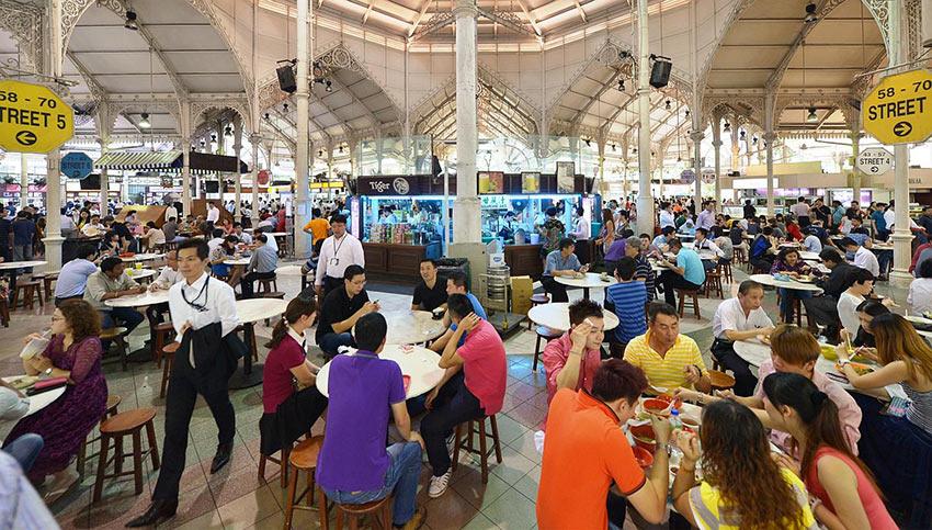 """фудкорт """"Lau Pa Sat"""" в Сингапуре"""