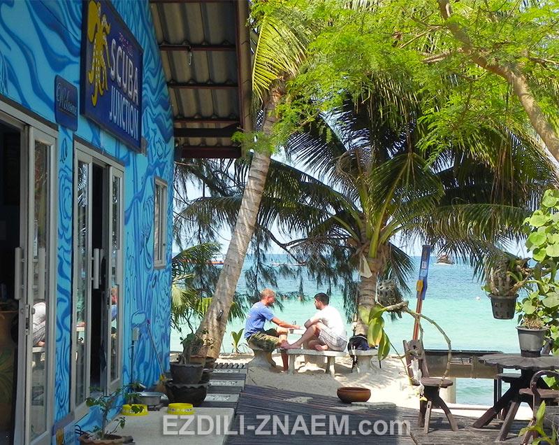 туристы на острове Тао в Таиланде