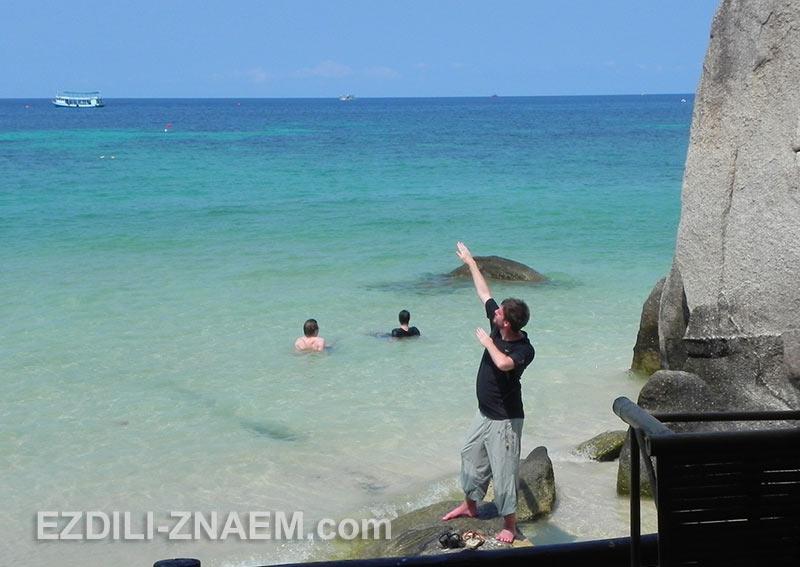 свобода на пляже острова Ко Тао в Тайланде
