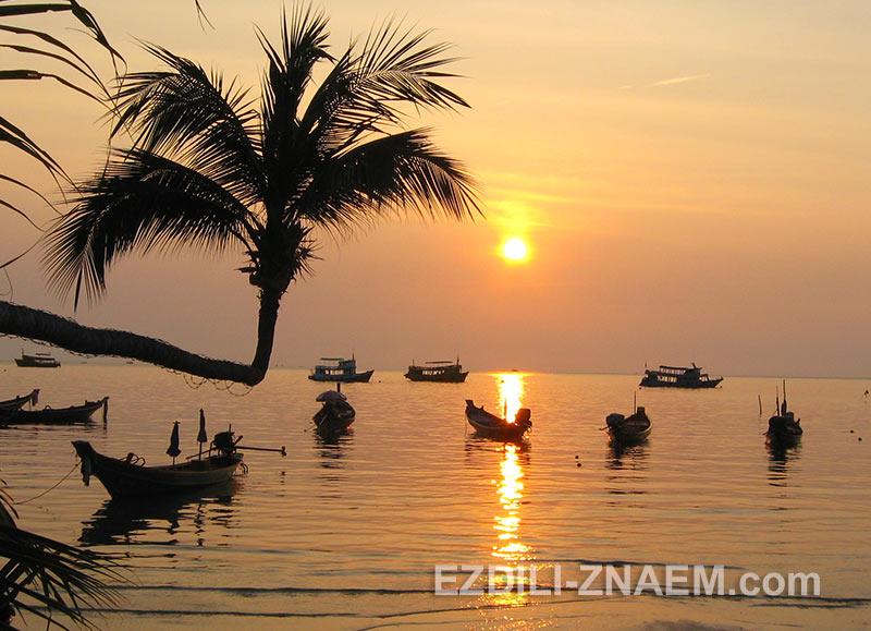 закаты на острове Ко Тао в Тайланде
