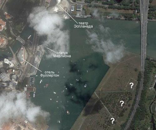 Отель Марина Бей Сандс еще не нарисован на картах Google