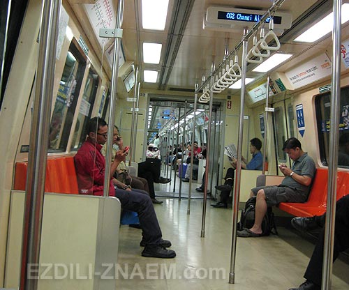 На фото: метро в Сингапуре