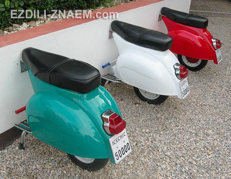 дизайнерская мебель из старых скутеров в Таиланд