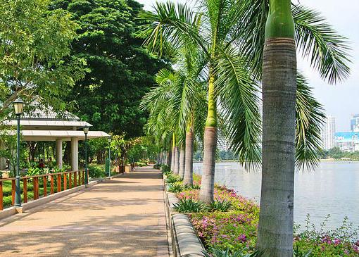 Парки Бангкока: пруд в Бенжакити парке