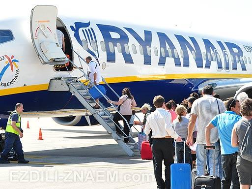 Авиакомпания RyanAir: отзыв о полете
