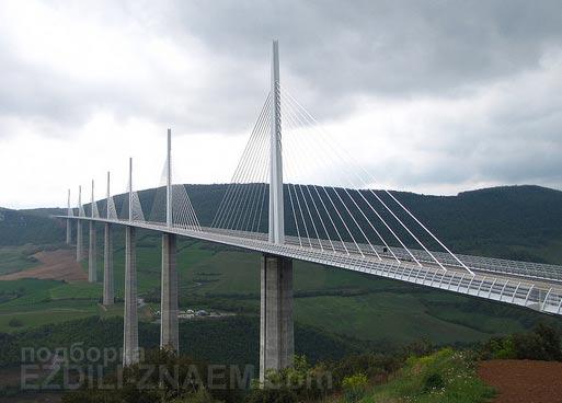 Самые необычные мосты мира: мост Millau Viaduk во Франции