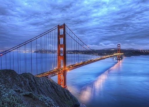Самые необычные мосты мира. Мост Золотые Ворота