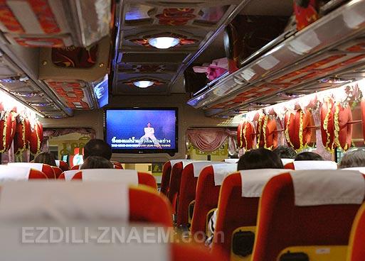 Поездка на автобусе Чиангмай - Хуа Хин
