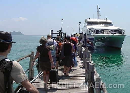 Как добраться до острова Панган из Хуа Хина. Катамаран Lomprayah