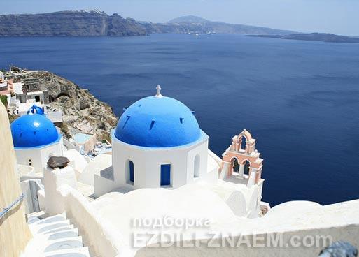 Лучшие острова: остров Санторини в Греции