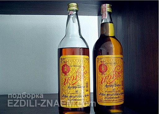 "Крепкий алкоголь в Тайланде: виски ""Меконг"""