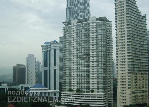 Отели Куала Лумпур с видом на башни Петронас