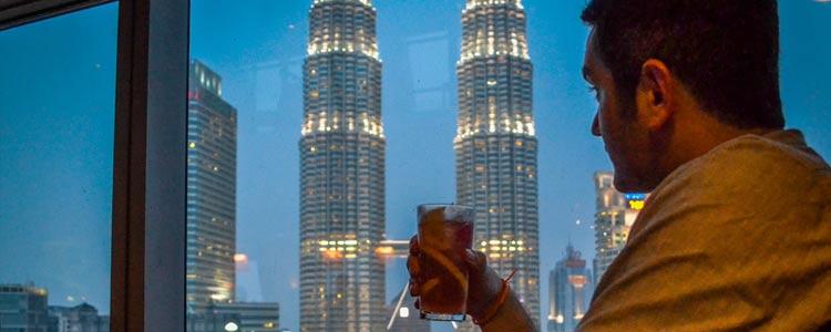 Вид на башни Петронас, Куала Лумпур