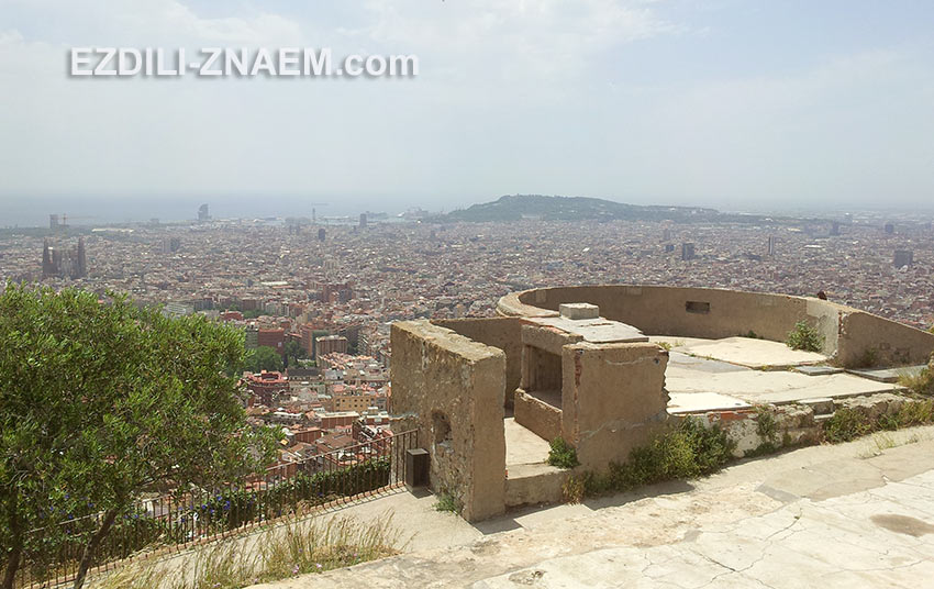 старая батарея на горе Guinardo - нетуристическое место Барселоны