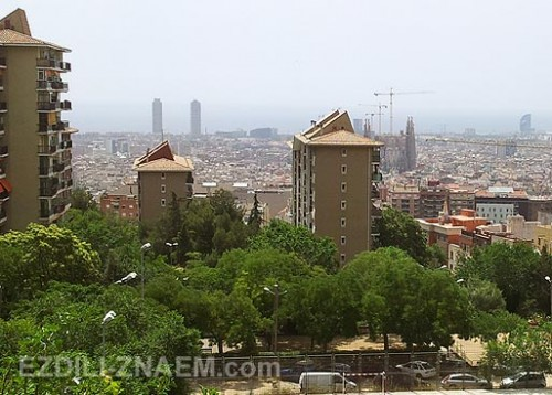 Гора в Барселоне - нетуристический район Guinardo
