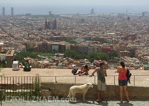 Вид на Барселону с горы