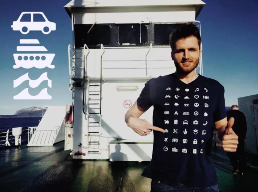 Полезная футболка для общения на незнакомом языке
