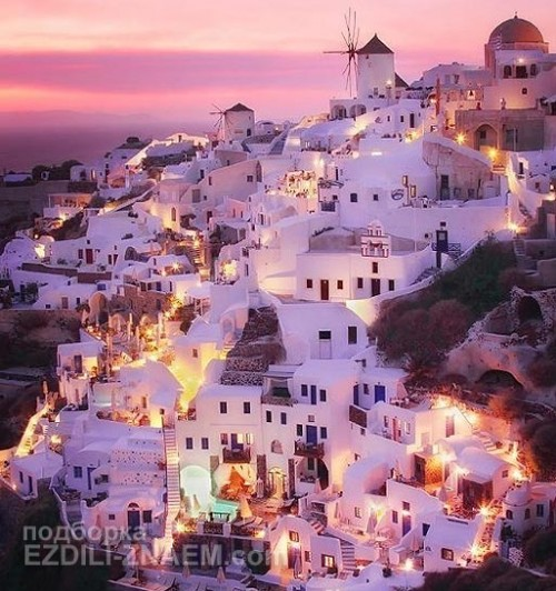 Город на скалах: Санторини в Греции