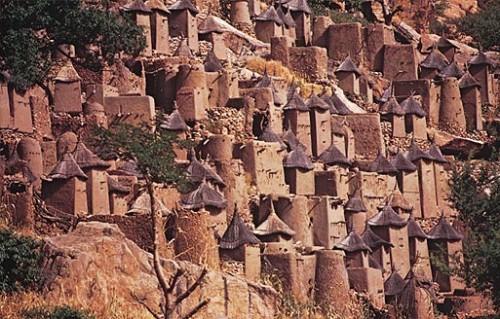 Город в скале Бандиагара в Мали