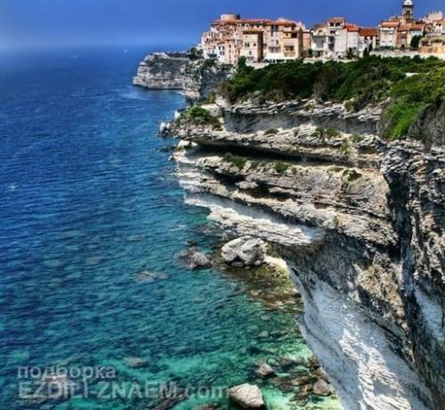 Город на краю обрыва: Bonifacio во Франции