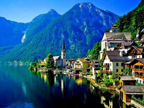 Гальштат, красивый город в Австрии