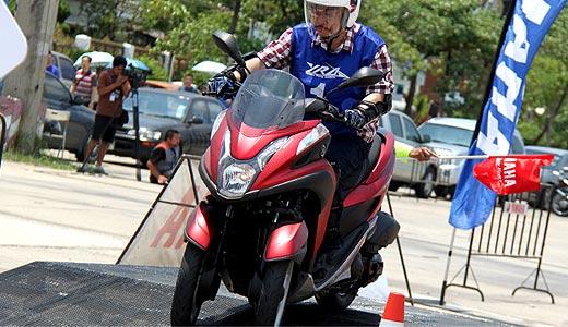 Аренда мотобайка - трицикла Ямаха TriCity в Тайланде