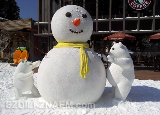 Снеговик в Таиланде