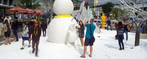 снег в Таиланде
