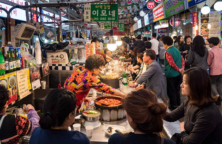 Рынок Gwangjiang в Сеуле