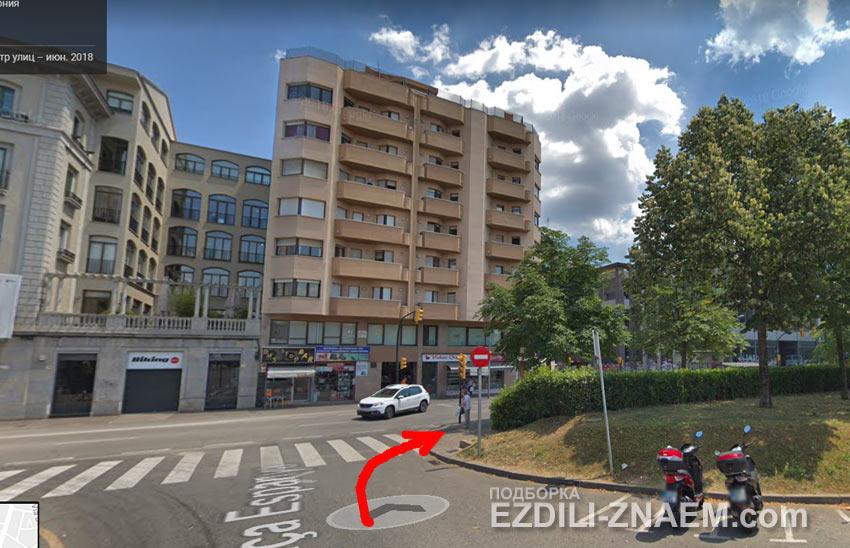 """""""идем"""" по карте на поиск отеля в Жироне"""