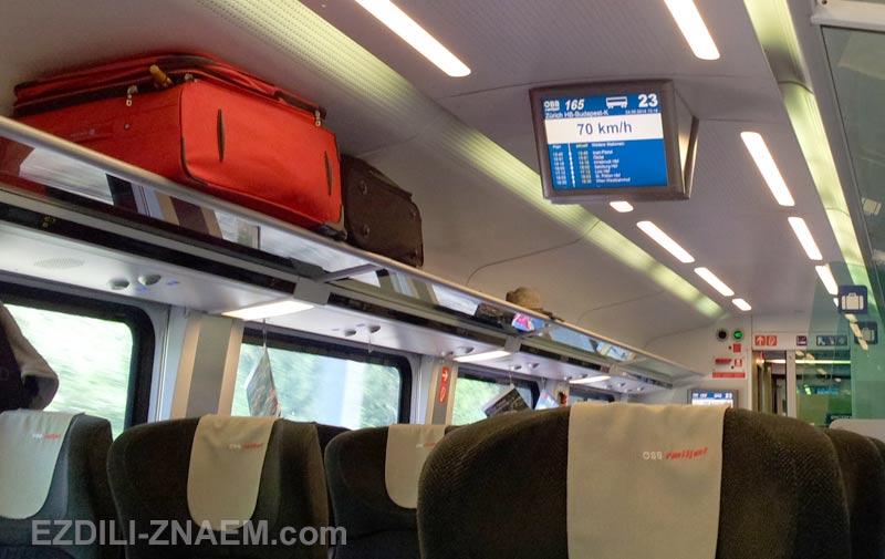 на поезде через Швейцарию и Австрию
