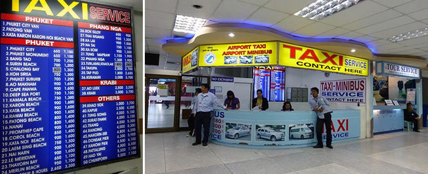 Стойка заказа трансфера в аэропорту Пхукета