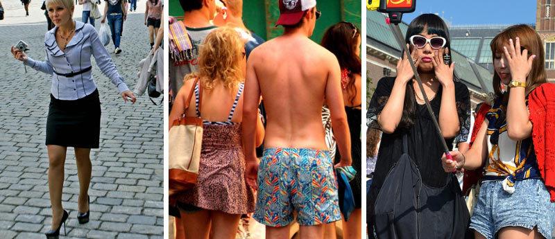 Когда туристы одеваются неудобно и неуместно