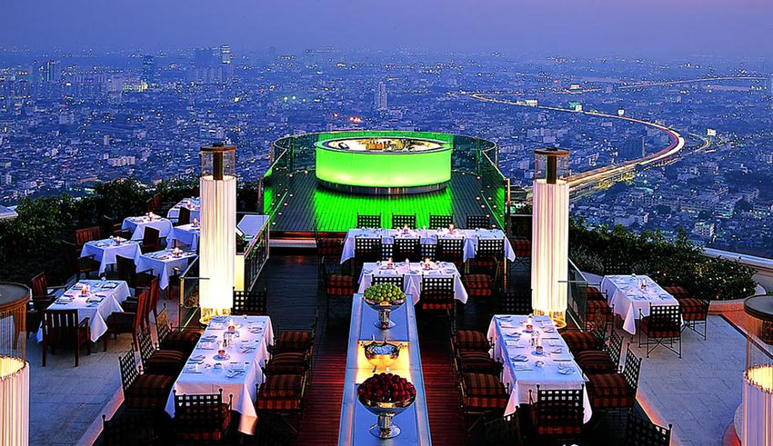 """панорама Бангкока с крыши отеля """"Лебуа"""""""