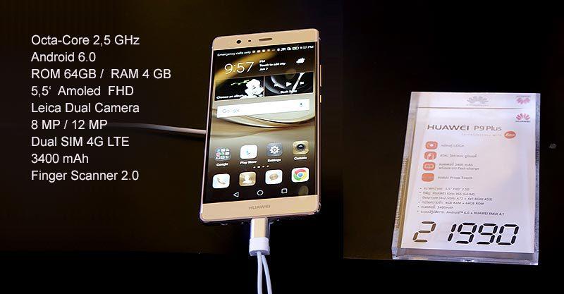 Смартфон Huawei P9 Plus в Таиланде