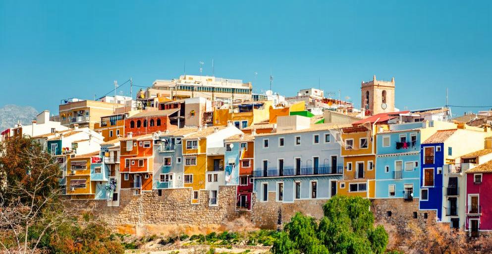 Город Вильяхойоса в Испании