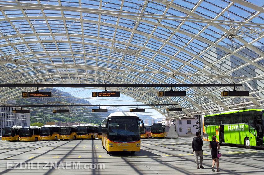 Автовокзал в Куре, Швейцария