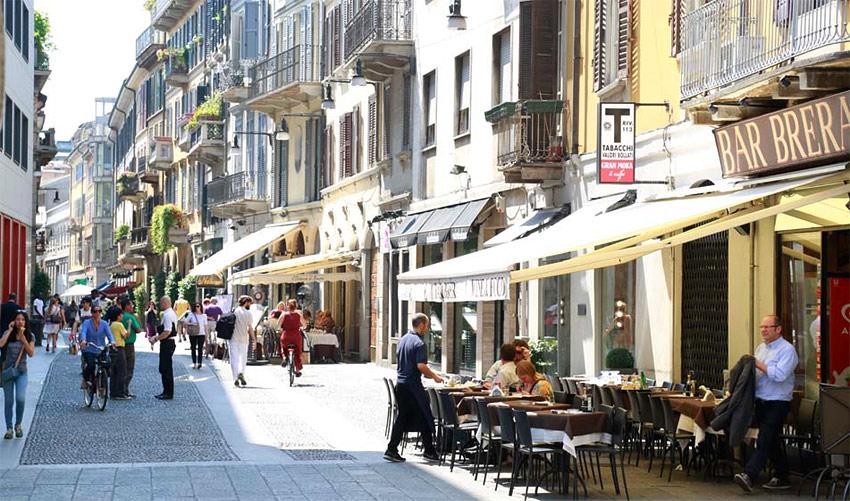 Район Брера в Милане