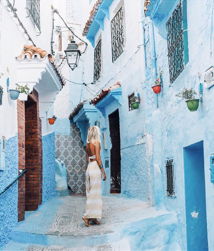 Голубой город в Марокко