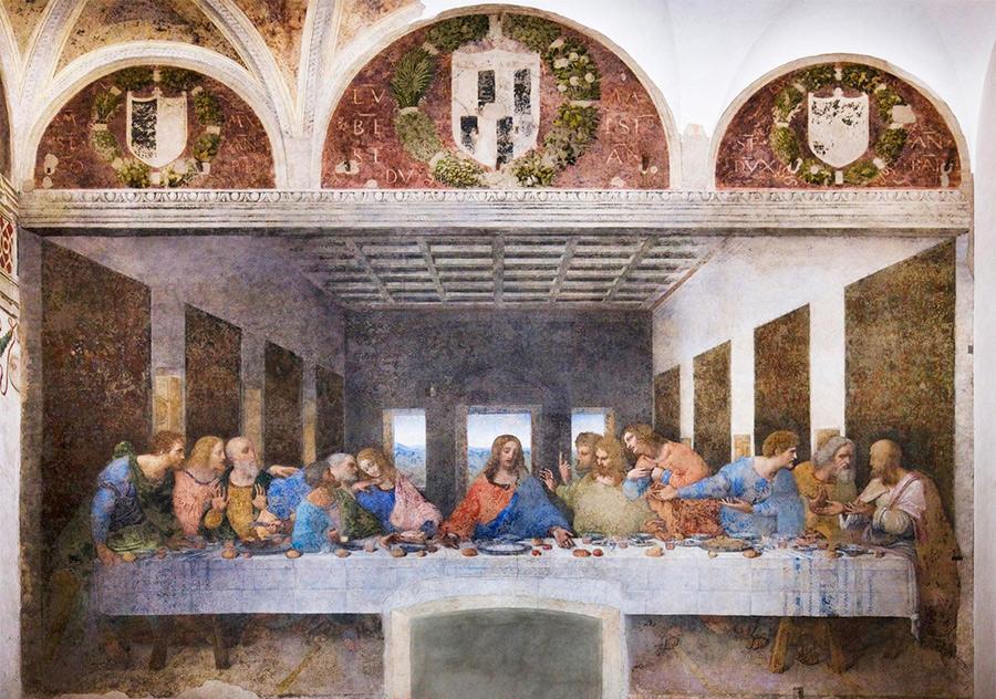 """Фреска """"Тайная вечеря"""" Леонардо да Винчи в Милане"""